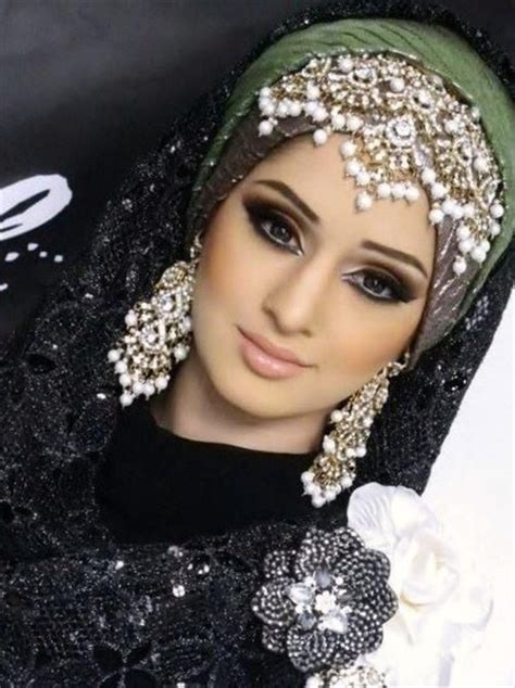 muslim wedding headdress stylish hijab wrapping
