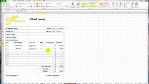 create an invoice in excel invoice design inspiration With how to use excel for invoices