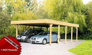 Carport Dach Holz : holz carport bausatz skanholz friesland aluminiunmdach flachdach doppelcarport vom garagen ~ Sanjose-hotels-ca.com Haus und Dekorationen
