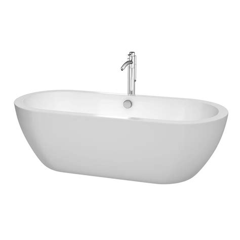 soaker tub faucet wyndham collection soho 6 ft center drain soaking tub in