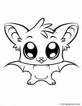 Bat Coloring sketch template