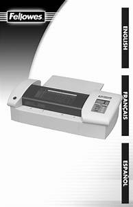 Download Fellowes Laminator Spl 95 Manual And User Guides
