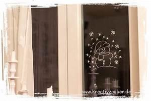 Klebereste Entfernen Fenster : winterfenster schneemann kreativzauber bastelblog mit vielen vorlagen anleitungen und ideen ~ Watch28wear.com Haus und Dekorationen