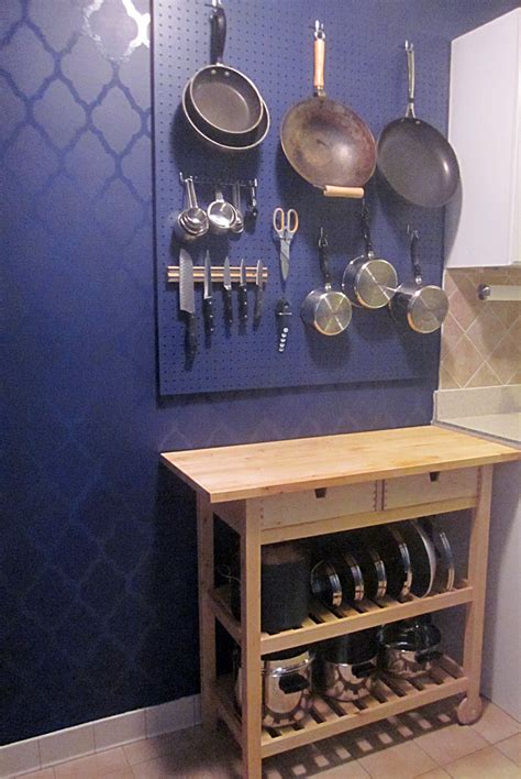 kitchen pegboard wall organizer decorology