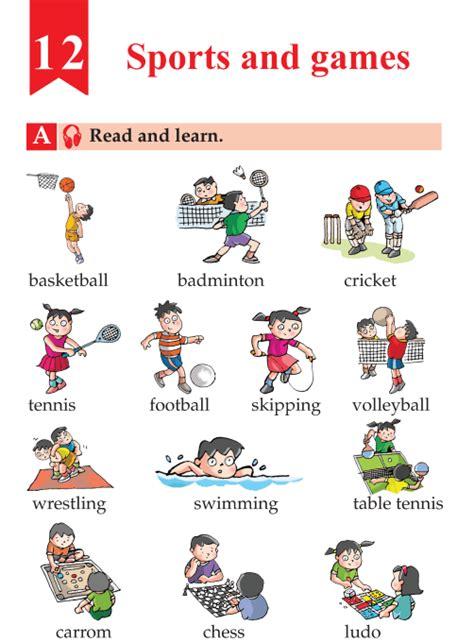 english lesson grade  sports  games english
