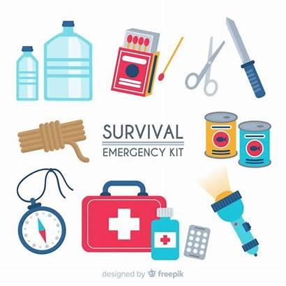 Kit Survival Emergency Creative Flat Freepik