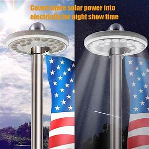 camping tent with built in lights solar flag pole light ayy ip65 waterproof outdoor auto