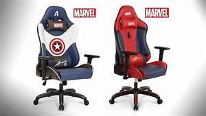 Premium Marvel Gaming Chair Spider Man Captain America
