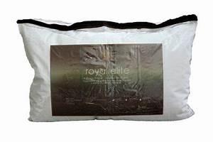 Oreiller De Duvet Doie Blanc Royal Elite Avec Finition