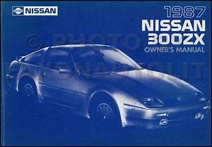 1987 Nissan 300zx Repair Shop Manual Original
