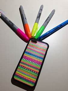 Make your own case Walmart case $10 Sharpies $1ea $11