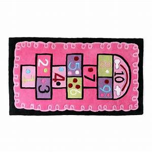 miliboo tapis chambre fille rose 80x150 marelle achat With tapis fille rose
