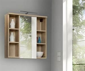 Badezimmer Hängeschrank Weiß : veris badezimmer h ngeschrank inkl led u spiegel ~ Watch28wear.com Haus und Dekorationen