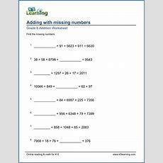 Grade 6 Addition & Subtraction Worksheets  Free & Printable  K5 Learning