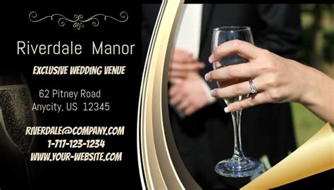 exclusive wedding venue business card template postermywall