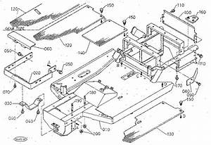 Frame Diagram  U0026 Parts List For Model T1400h Kubota