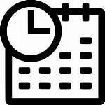 Icon Date Clock Svg Agenda Calendar Transparent
