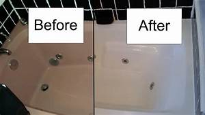 How to refinish a bathtub with rustoleum tub and tile kit for Bathroom tile paint kit