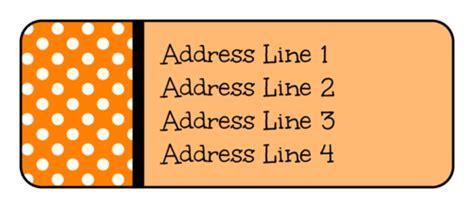 polka dot halloween address labels label templates
