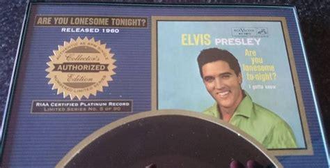 Elvis Presley Limited Framed 45 Rpm Record