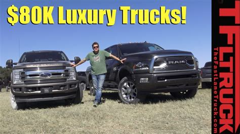 2018 Ford F250 Limited and 2018 Ram 2500 HD Limited