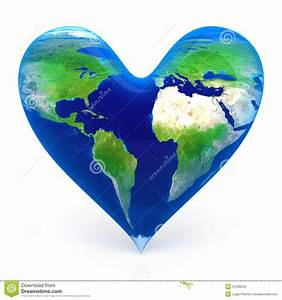 Earth In The Shape Of A Heart Royalty Free Stock Photo ...
