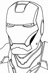 Iron Outline Coloring Head Ironman Mask Clipart Face Drawing Pages Clip Helmet Printable Sketch Spider Clipartbest Mans Cliparts Spiderman Template sketch template