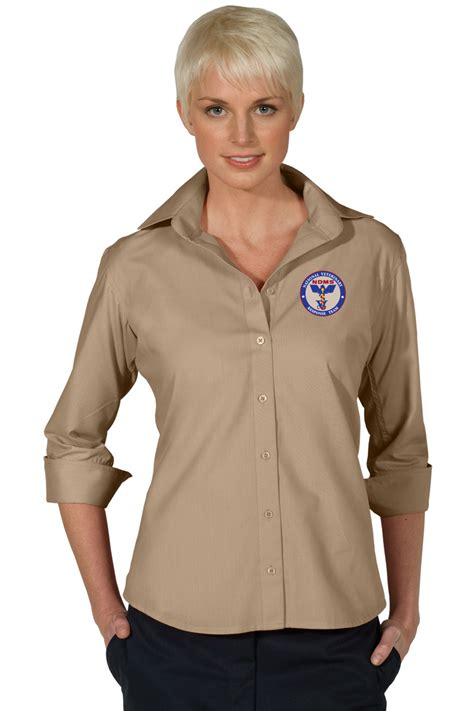 3 4 sleeve blouse poplin 3 4 sleeve blouse the monogram company