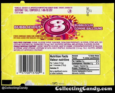 bubblicious fruit bowl bubblicious gum nutrition facts nutrition ftempo