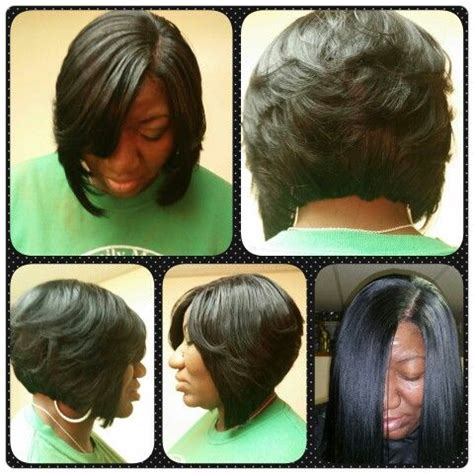 full stocking cap weave cut into a bob with layers
