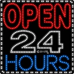 Open 24 Hours Animated LED Sign Business LED Signs Every