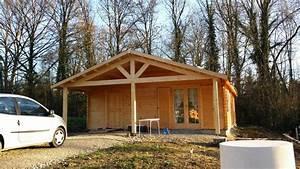 Chalet En Bois Habitable Livré Monté : maison de jardin avec ossature bois de 73 m avec une ~ Dailycaller-alerts.com Idées de Décoration