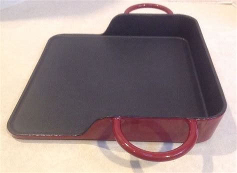 iron cast uni griddle grill square enamel nice cookware cook case cooking heavy qvc