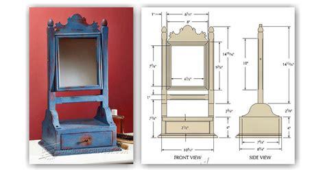 mirror stand plans woodarchivist