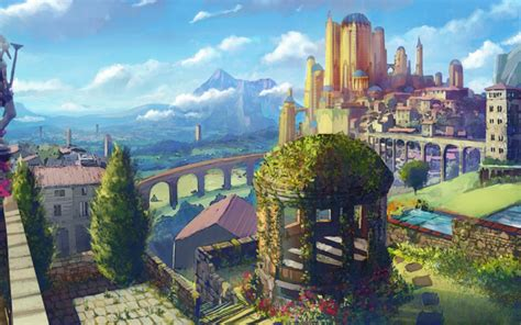 Howl S Moving Castle Wallpaper Widescreen City Wallpaper And Background Image 1280x800 Id 344170