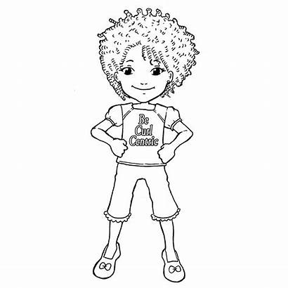 Coloring Curly Hair Curl Children Pages Natural