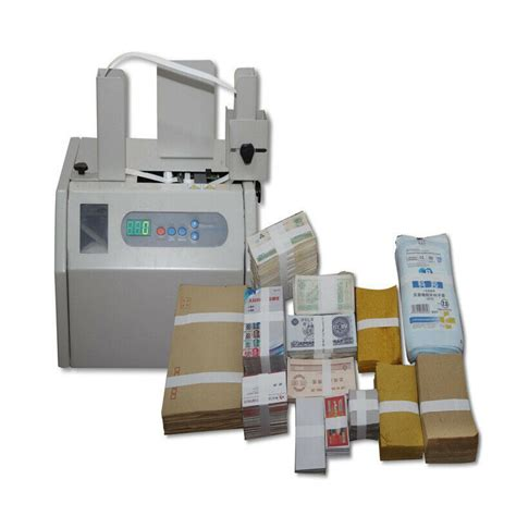 automatic banknote invoice bill banding machine paper tape money strapping  ebay