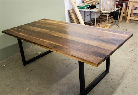 Of Table by Black Walnut Modern Industrial Table Ks Woodcraft