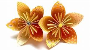Origami Blumen Falten : origami blumen falten 03 fleurogami bl te youtube ~ Watch28wear.com Haus und Dekorationen