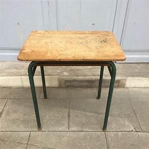 Bureau écolier Vintage : ancien bureau colier ou pupitre des ann es 50 ~ Nature-et-papiers.com Idées de Décoration