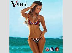 Vsha Women Brazilian Model Bikini Suit 2018 Summer