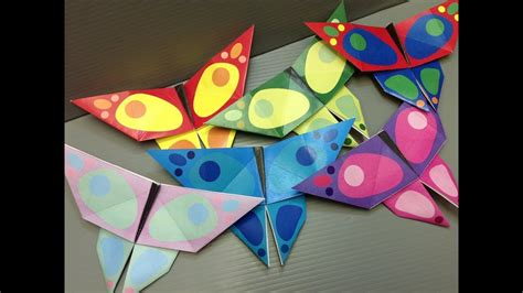 origami butterfly paper print