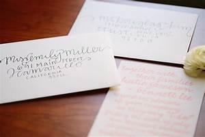 diy wedding envelope addressing tips julep With po box wedding invitations