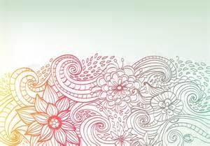 doodle color floral background stock photo colourbox