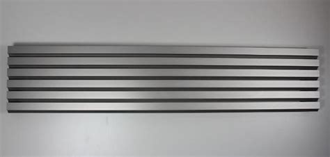 lamellengitter aus aluminium  silber pe systeme