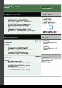 Resume 2016 download resume templates in word for Free online resume templates for word