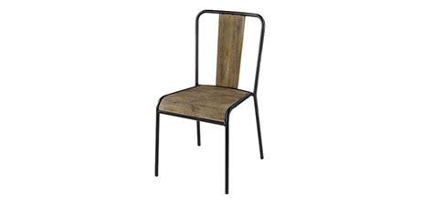 chaises en bois pas cher chaise industriel pas cher fauteuil en mtal et pin lina