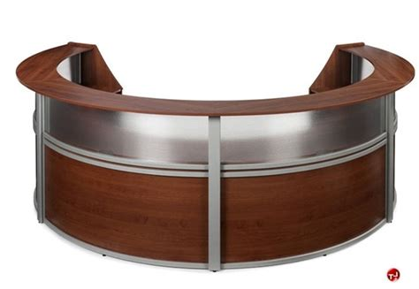circular reception desk lobby the office leader omf 55314 4 unit marque circular