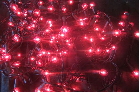 red outdoor christmas lights 120 red berry christmas lights decorations tree window