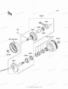 Kawasaki Motorcycle 2010 Oem Parts Diagram For Crankshaft